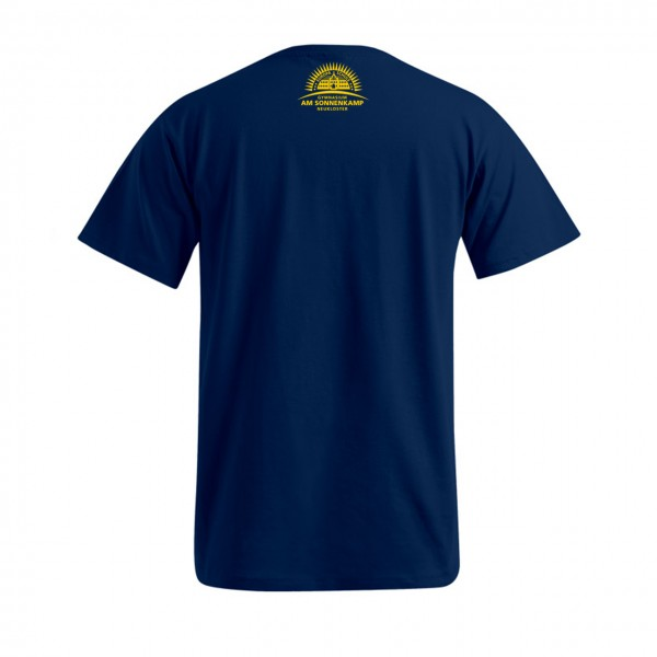 T-Shirt Herren Motiv Nacken mittig