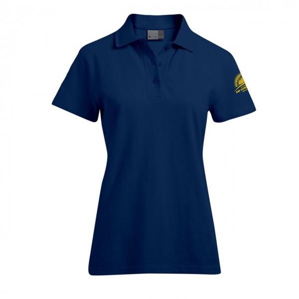 Poloshirt Damen Motiv Ärmel links