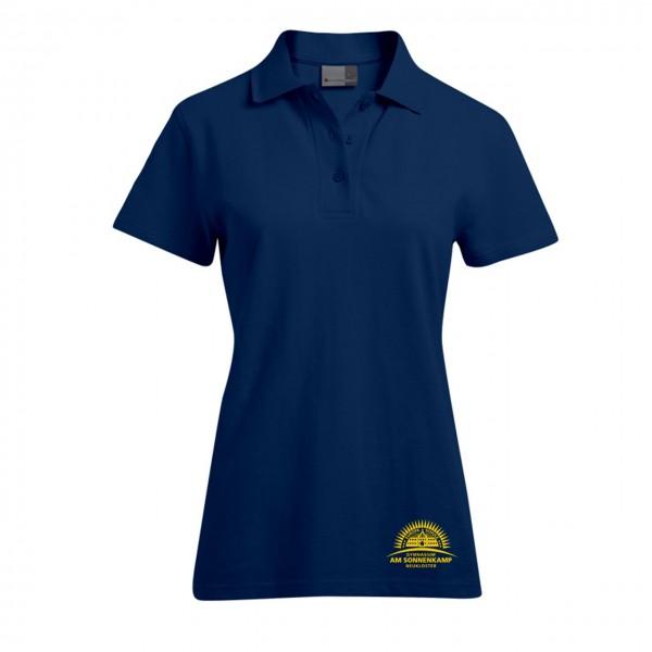 Poloshirt Damen Motiv Brust unten
