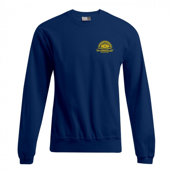 Unisex Sweater Motiv Brust links