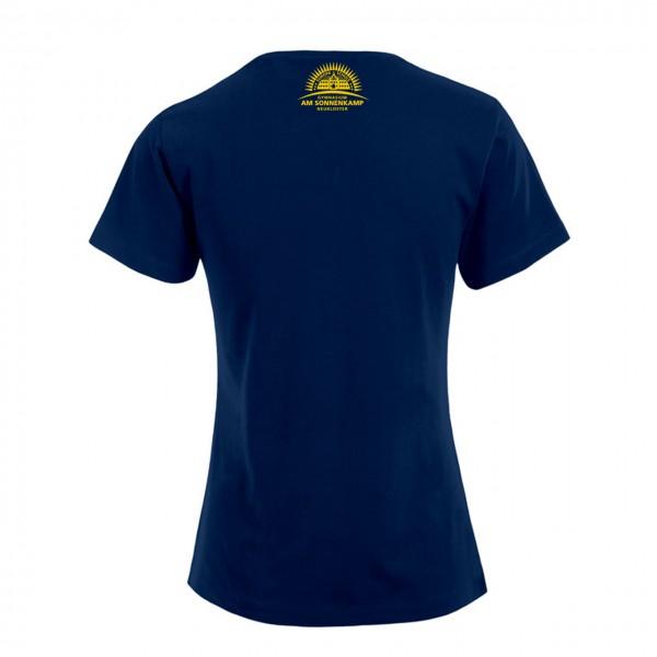 T-Shirt Damen Motiv Nacken mittig