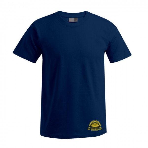 T-Shirt Herren Motiv Brust unten
