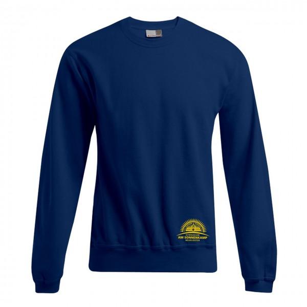 Unisex Sweater Motiv Brust unten