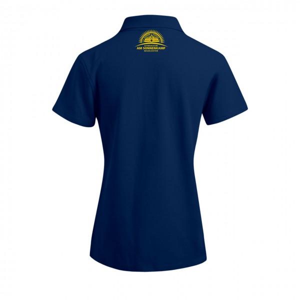 Poloshirt Damen Motiv Nacken mittig