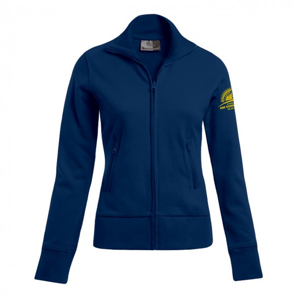 Sweatjacke Damen Motiv Ärmel links