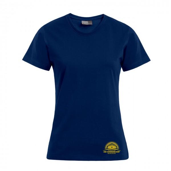 T-Shirt Damen Motiv Brust unten