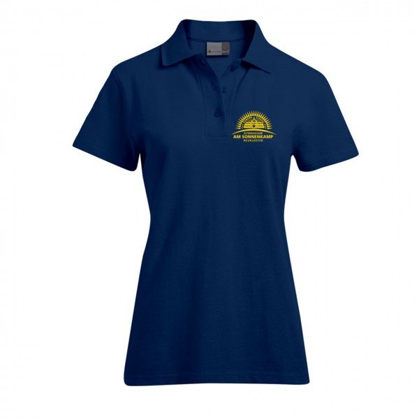 Poloshirt Damen Motiv Brust links