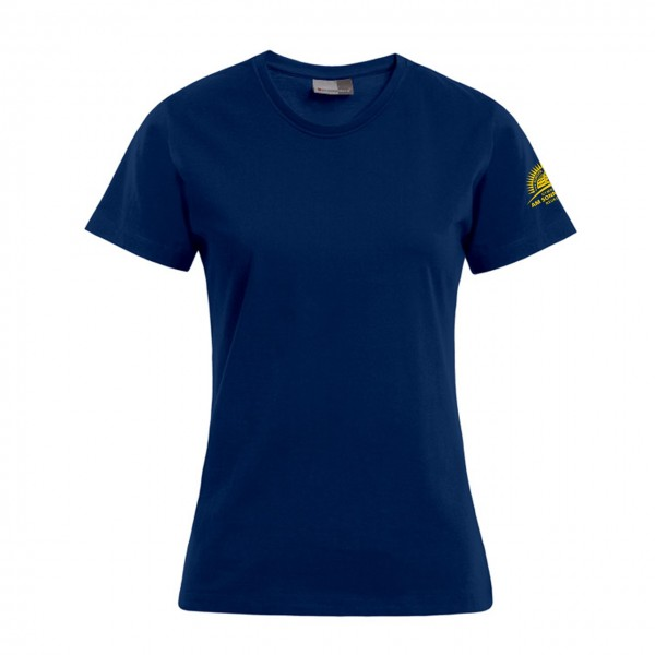 T-Shirt Damen Motiv Ärmel links