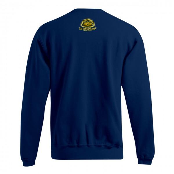 Unisex Sweater Motiv Nacken mittig